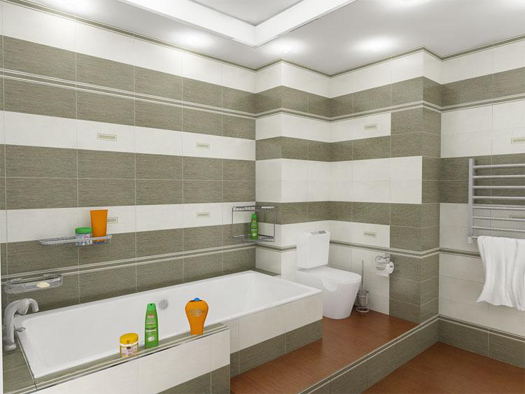 Фото ванной комнаты в строгом стиле в сеерых и белых тонах