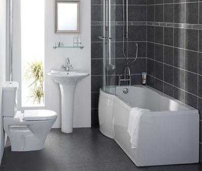 Черно-белая классика в дизайне ванной комнаты