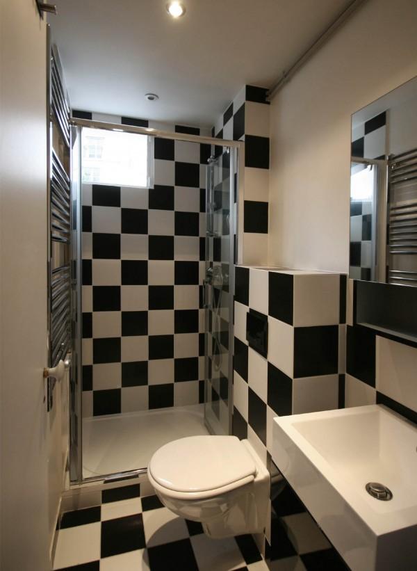 Фото дизайна малогабаритной ванной комнаты
