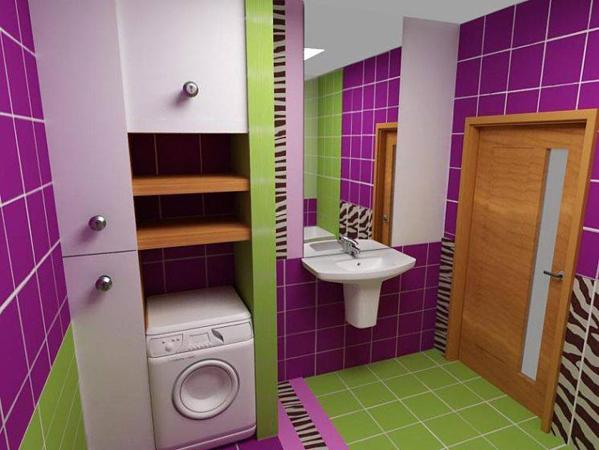 Уютная ванная комната и туалет в современном стиле
