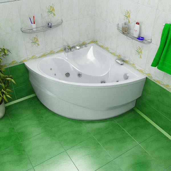 Фото угловой ванны и совмещенного туалета после ремонта