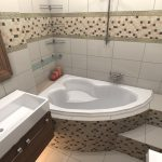 большая ванная уместилась в компактной ванной комнате