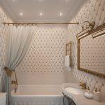 оформление ванной в царском стиле - стяжка