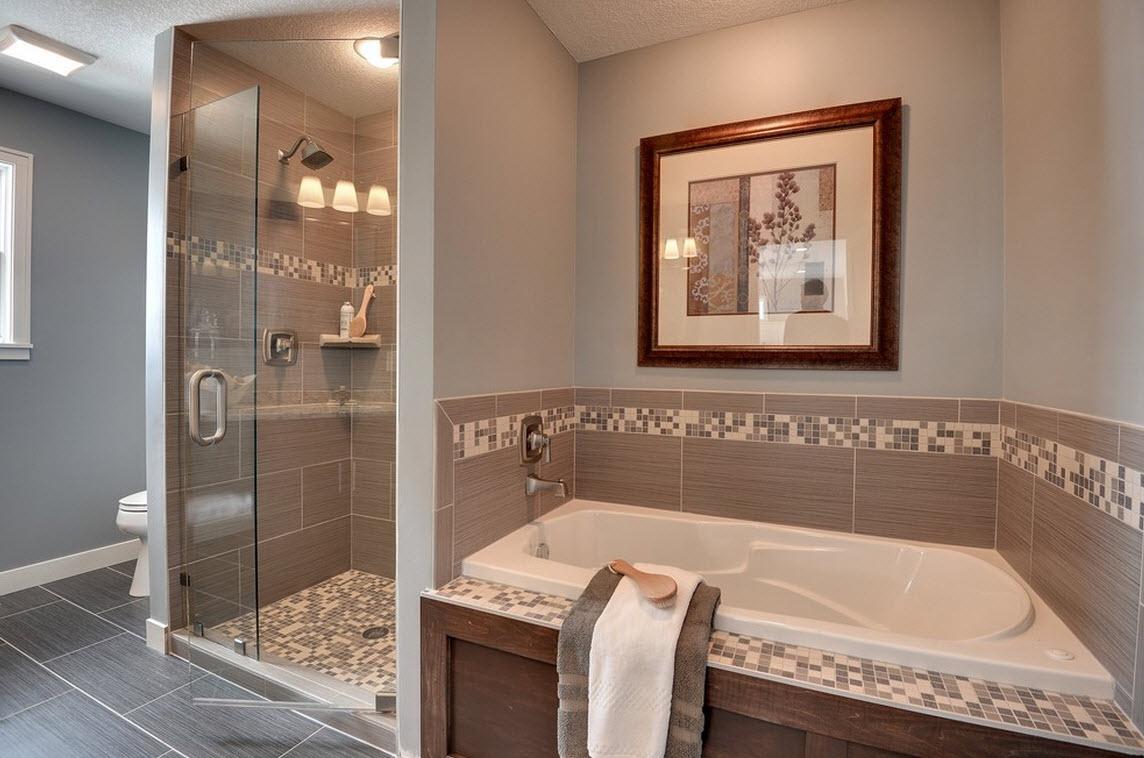 дизайн ванной комнаты в квартире в темном цвете