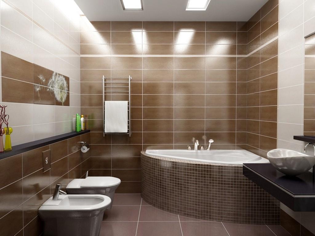 концепция ванной в доме в темном цвете