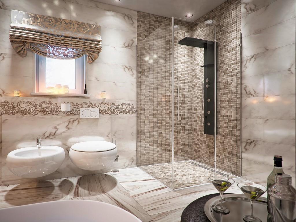 Интерьер ванной комнаты 75 фото идей дизайна