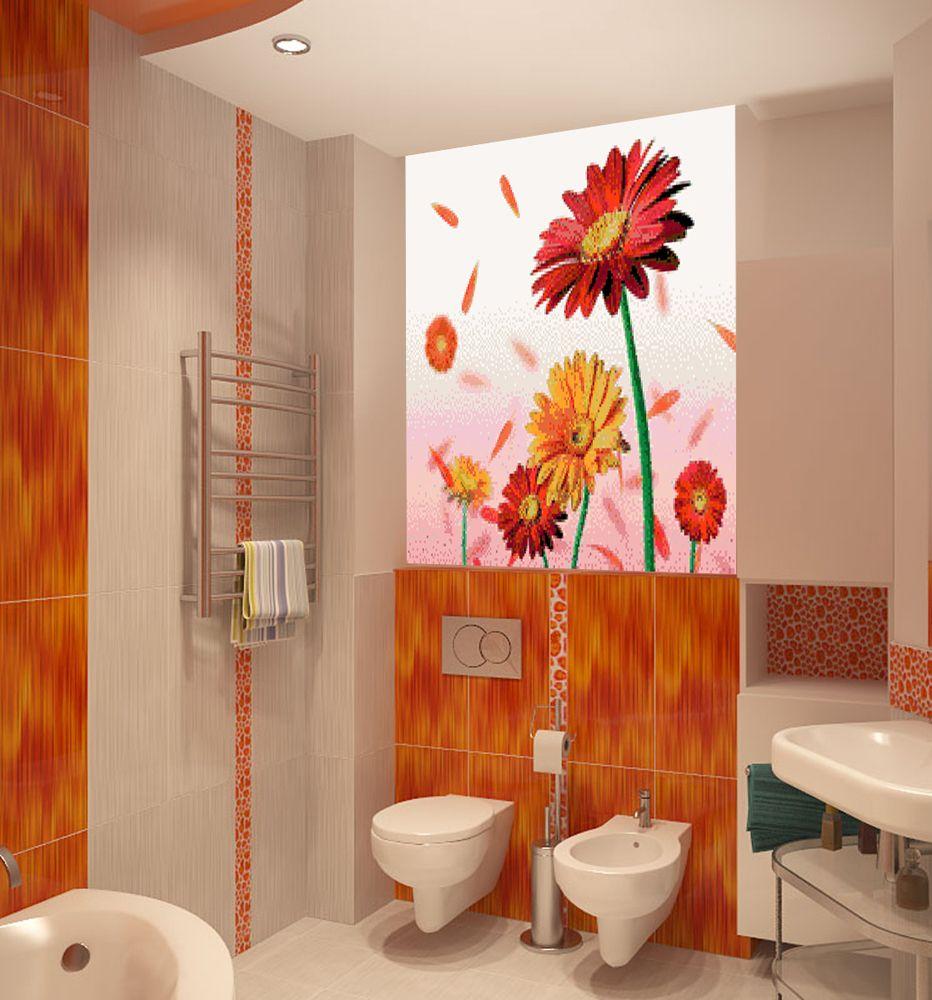 декоративная вставка, вставки декоративные в ванной