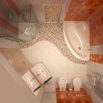 дизайн маленькой ванны в хрущевке фото