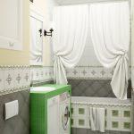 необычный дизайн маленькой ванной
