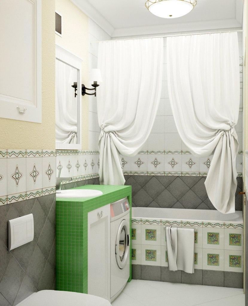 дизайн маленькой ванной в квартире