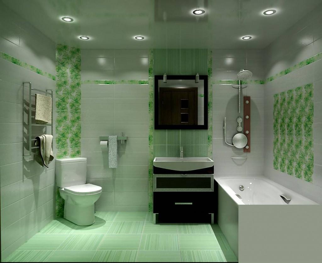 дизайн ванной душевой в доме в светлом цвете
