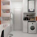 дизайнерский минимализм ванной