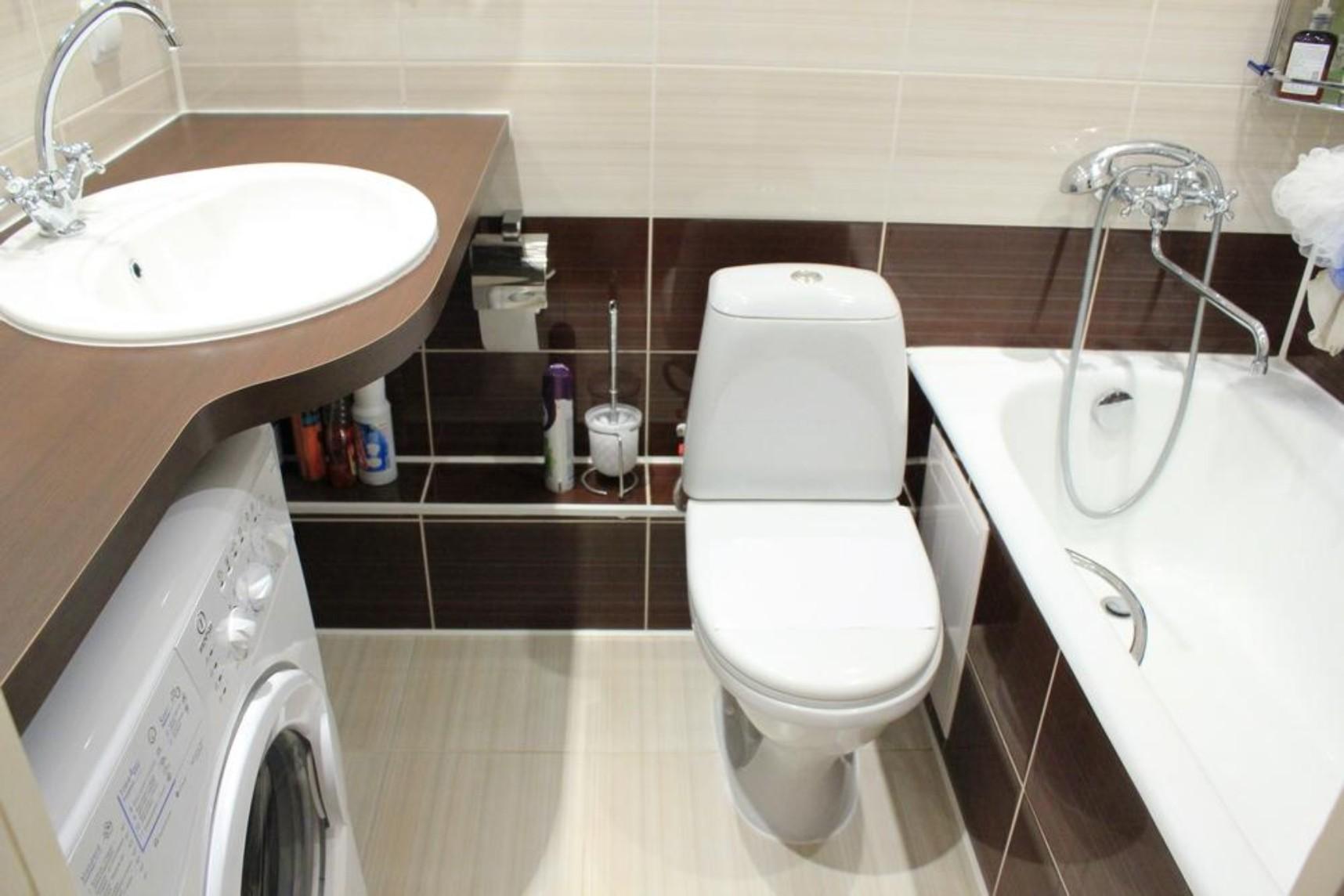 дизайн компактной ванной