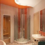 душевая в маленькой ванной комнате