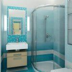 светлая кабинка в ванной стиль