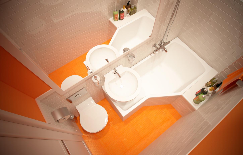 Фото дизайна очень маленькой ванной комнаты