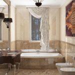оформление ванной в темном цвете фото