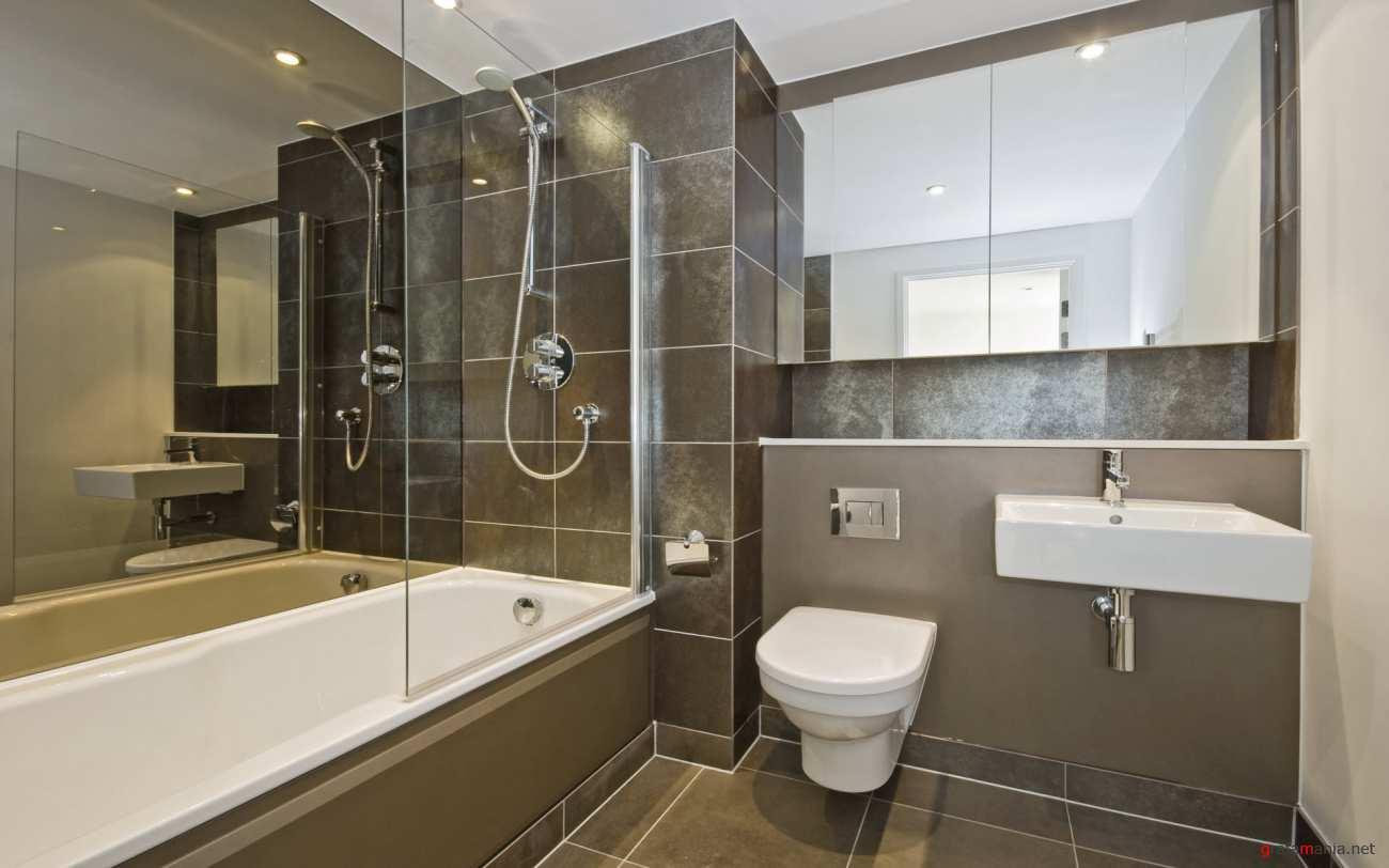концепция ванной в доме в светлом цвете
