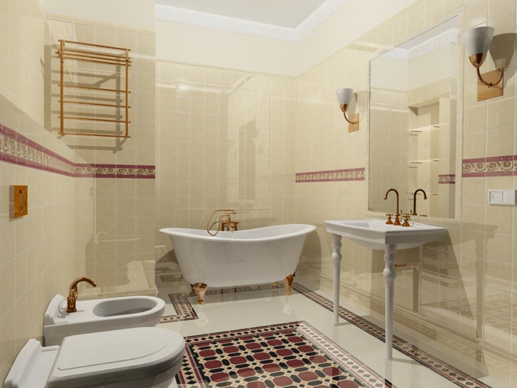 дизайн ванной комнаты в квартире в светлом цвете
