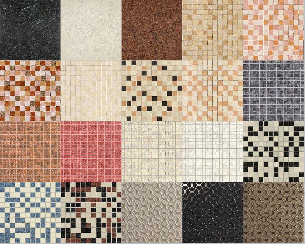 разнообразие керамической плитки и кафеля