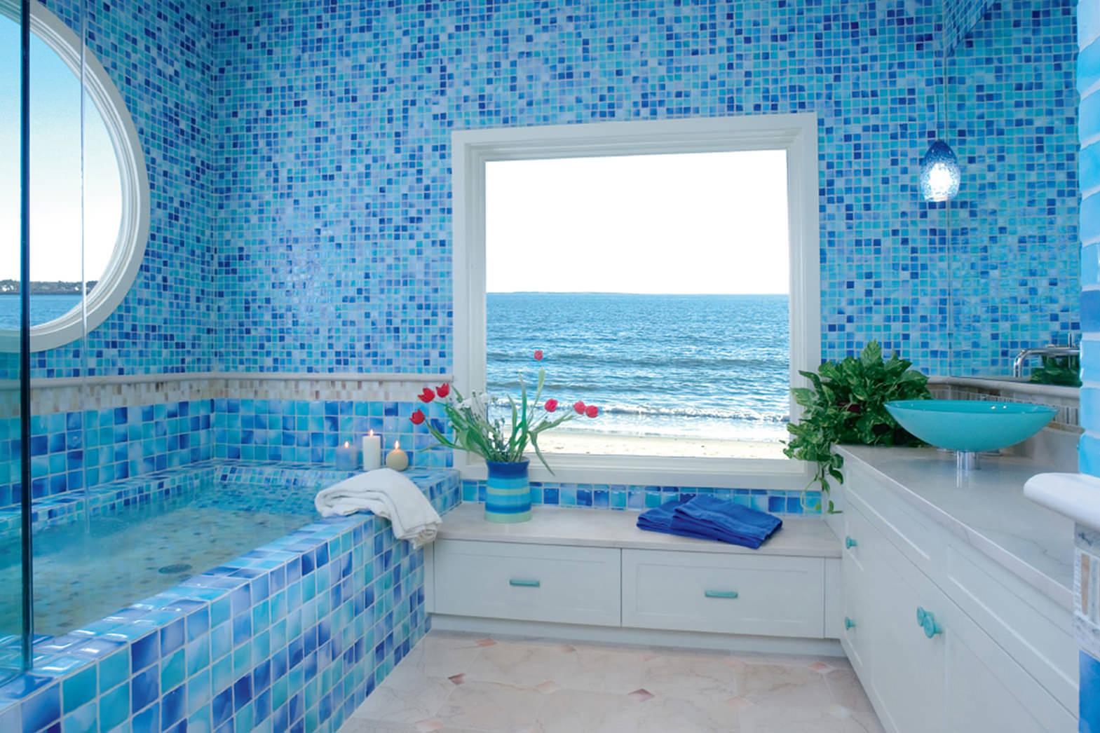 дизайн ванной комнаты в доме в темном цвете