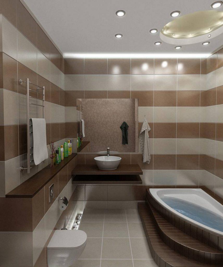 Красивый дизайн маленькой ванной