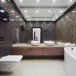 современный лаконичный дизайн в ванной