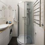 небольшая душевая кабина в ванной интерьер
