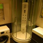 необычная кабинка душевая в ванной дизайн