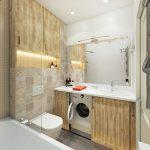 маленькая и компактная комната ванная