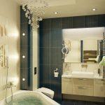 красивый интерьер в ванной комнате