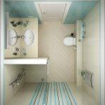 схема ванной с душем