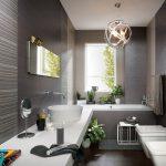 серые оттенки в оформлении дизайна ванной