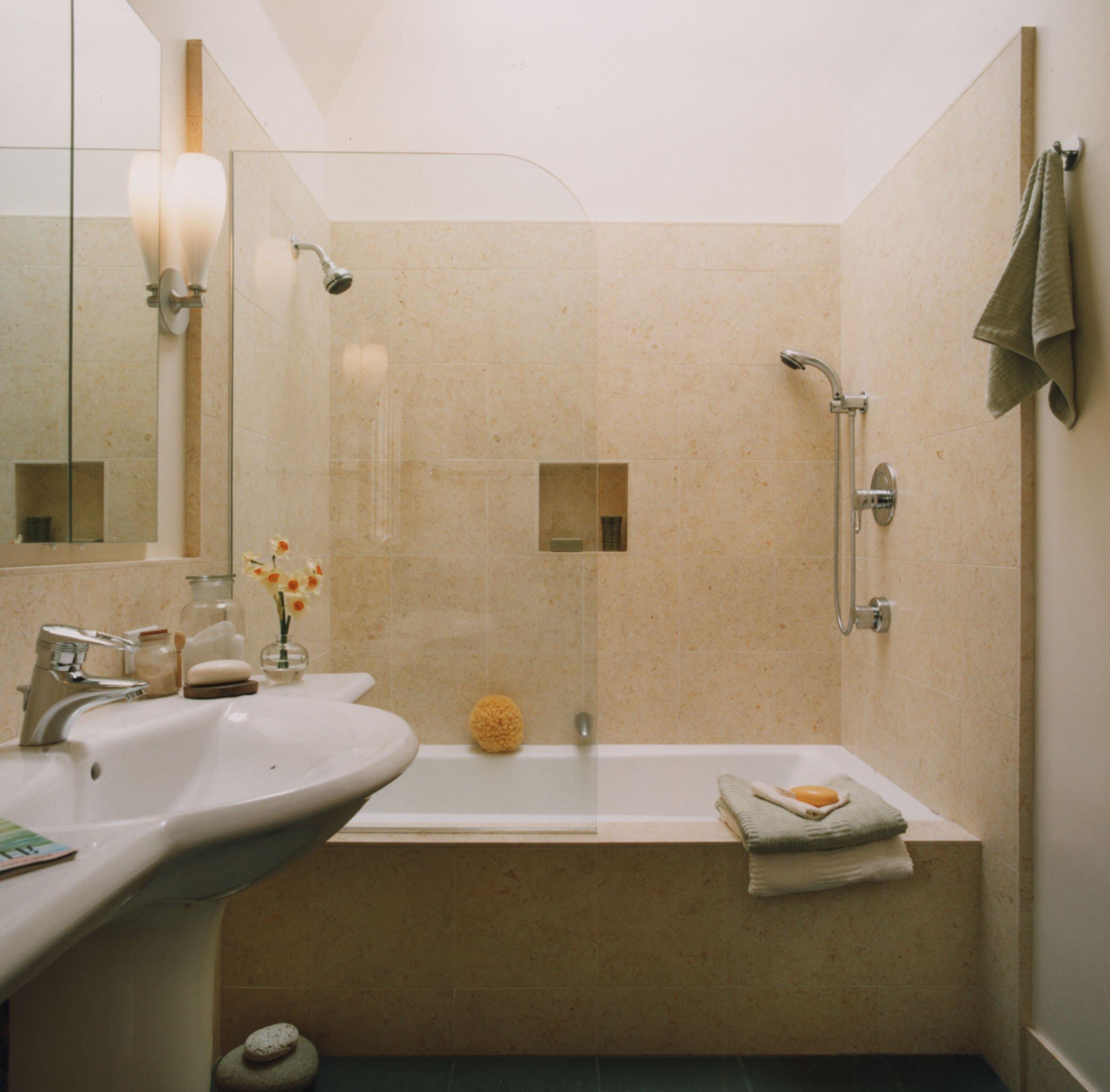 ванная комната в минималистическом стиле в темных тонах