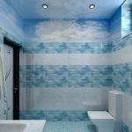 имитация воздуха и моря в дизайне ванной