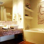 необычный интерьер в ванной