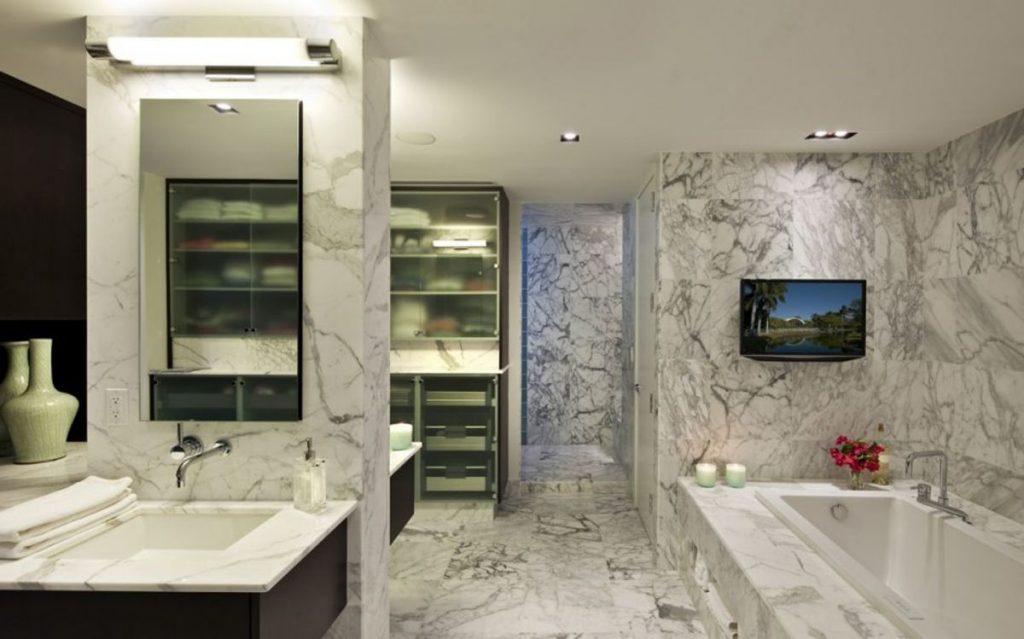 дорогая мраморная плитка, мрамор в ванной