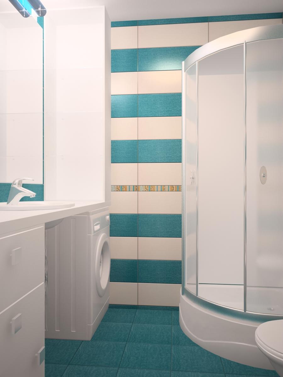 белая душевая в маленькой ванне