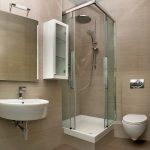 маленькая кабинка в ванной комнате интерьер