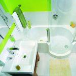 небольшая кабинка душевая в ванной комнате дизайн