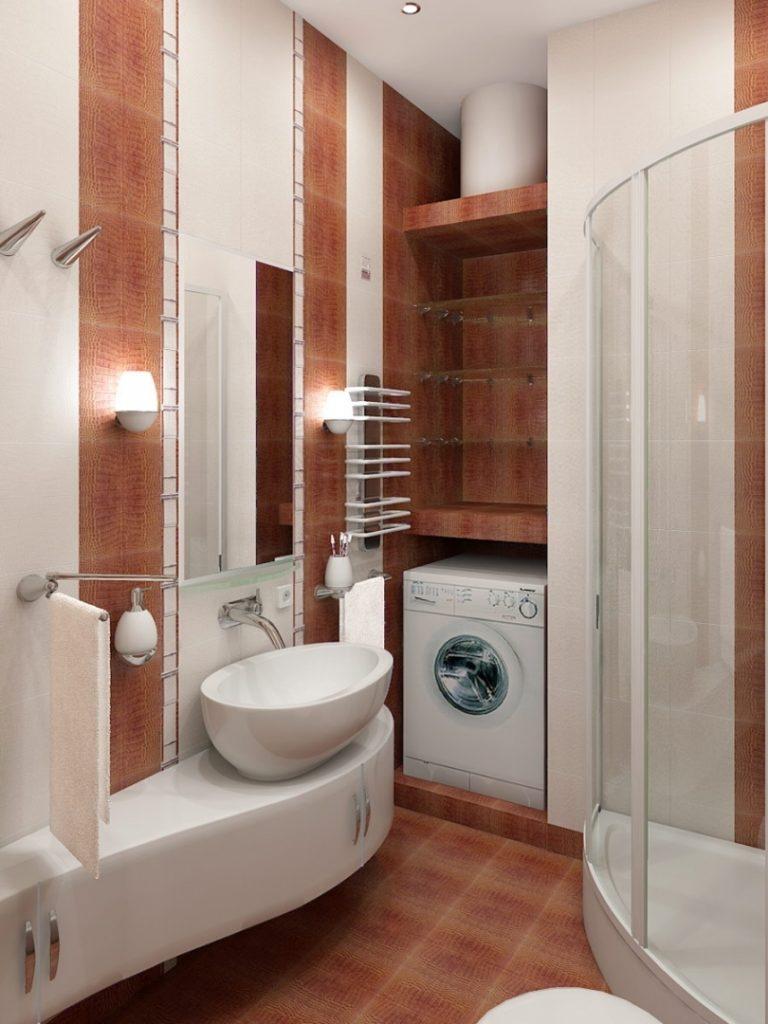 необычная форма ванной комнаты