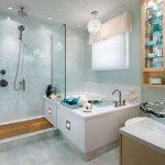 маленькая кабинка душевая в ванной дизайн