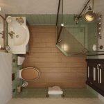 маленькая душевая кабинка в ванной комнате стиль