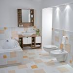 красивая керамическая плитка в интерьере ванной в стиле этно в темных тонах