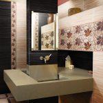 красивый декор в ванной комнате