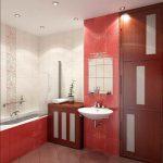 красная ванная комната 6 кв м