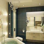 пример ванной в темных тонах фото