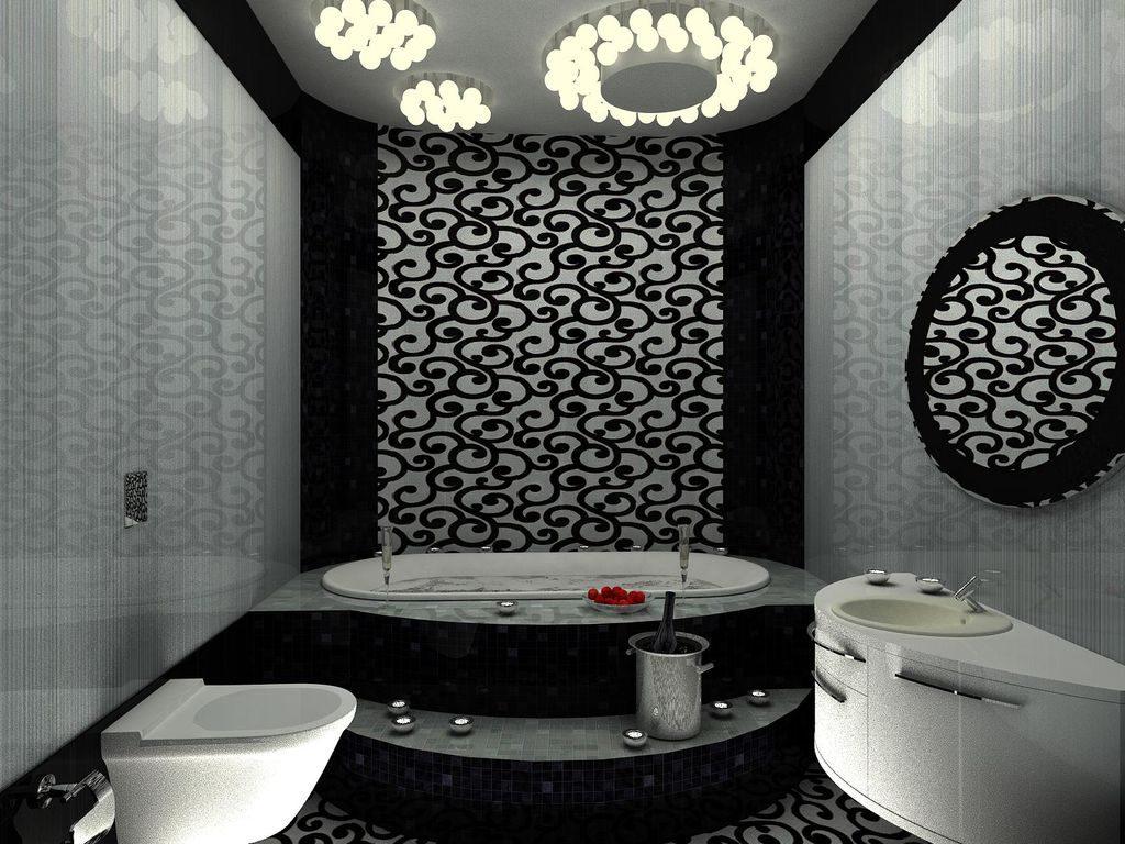 цветовая гамма в ванной комнате должна совпадать