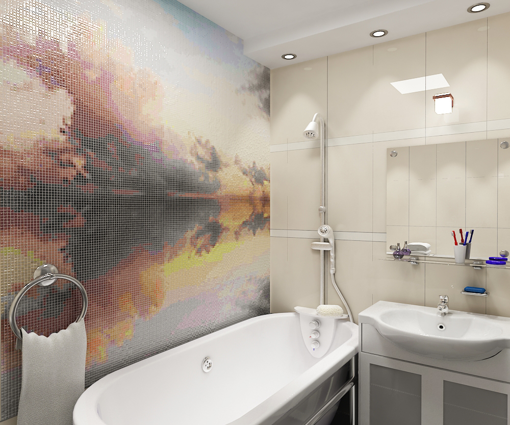 картинка, панно в ванной