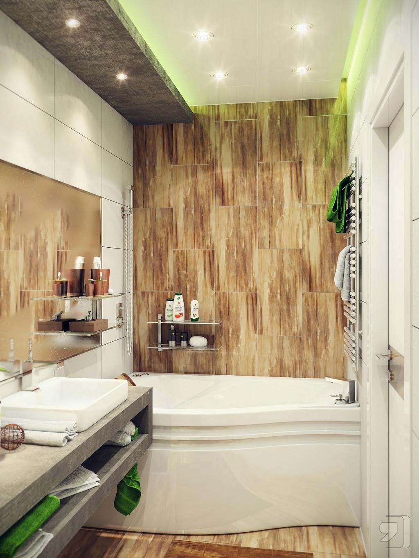 пример маленькой ванной в доме